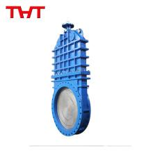 Válvula de compuerta de kinfe de hierro de asiento de goma delta de baja presión personalizada