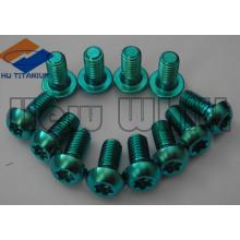 boulons de titane de nitruration de Gr5 de haute résistance verte
