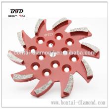 250mm Disco de rectificado de suelo de hormigón grande