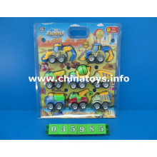 Hot Metal Pull Back Engineering Car Toy (035985)
