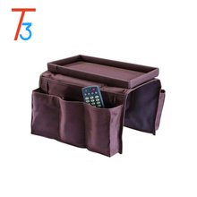 Sofa Couch Arm Rest Organizer Storage Remote Control table top bag holderas seen on tv