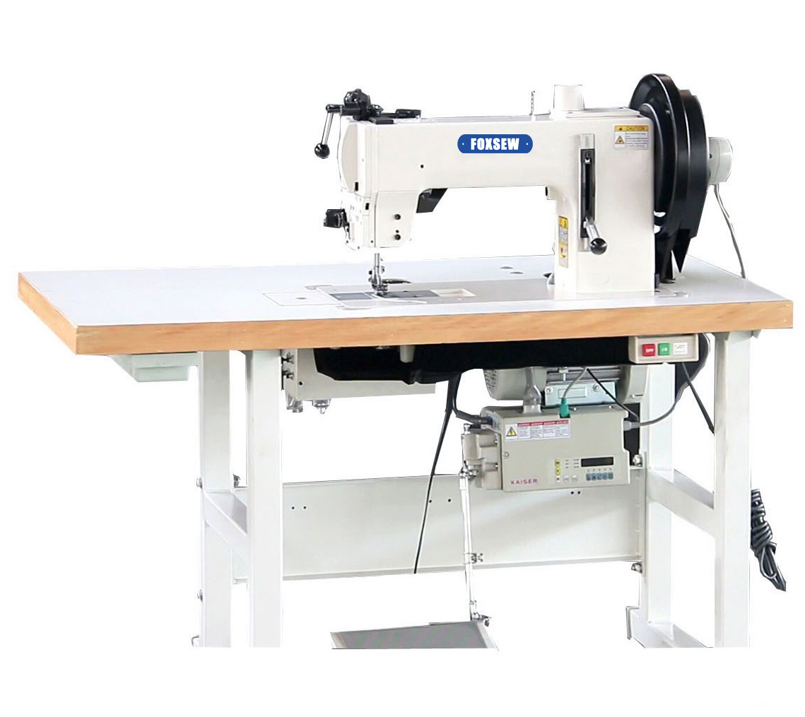 KD-204-370 Flat Bed Compound Feed Walking Foot Heavy Duty Lockstitch Sewing Machine