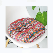 Japanese futon round cotton and linen style multi-purpose chair cushion for office