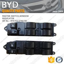 ORIGINAL BYD F3 Parts INTERRUPTEUR PRINCIPAL, RÉGULATEUR DE FENÊTRE BYD-F3-3746100