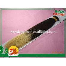 100% cheveux humains deux tons ombre couleur nano extensions de cheveux