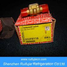 """Válvula de solenoide sólido Danfoss Evr 3, normalmente cerrada, válvulas y bobinas de solenoide de 3/8 """"(EVR3)"""
