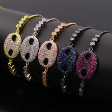 Lovely Baby Face Multi Color Zirconia Charm Armband