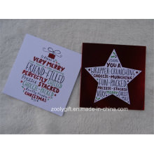 Glitter Christmas Greeting Card Foil Star Holiday Greeting Cartes-cadeaux