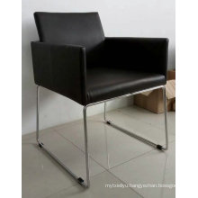 Leather Chair, Office Leather Chair, Steel Frame Chair (C0911)