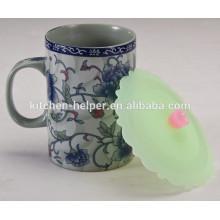 Nuevas tapas de taza de té de silicona de diseño