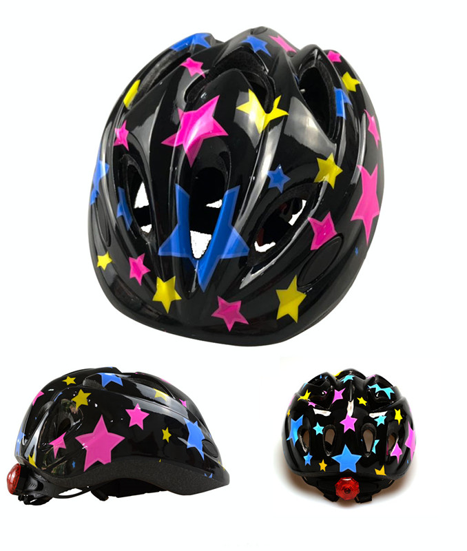colorful start helmet