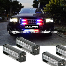 12W led police led work light bar flash warning emergency work light bar off-road work light