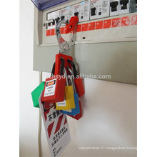 Tamper en acier résistant isolant ignifuge Verrouillage isolant des panneaux électriques