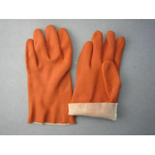 Coffee PVC Interlock Liner Glove-5132
