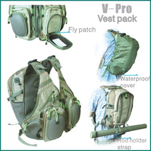 fly fishing V-pro vest back pack