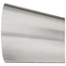 Réducteur excentrique d'ajustement sanitaire en tube d'acier inoxydable