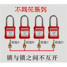 Approve CE very durable Polypropylene , anti-impact modified nylon lock out tag out program