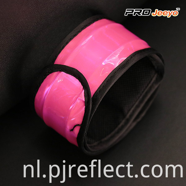 High Visible Fluo Pink PVC Slap Bracelet WB-JG007