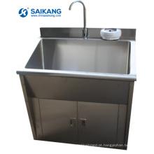SKH036-1 Luxo Simples Aço Inoxidável Lavar Pia Para O Hospital