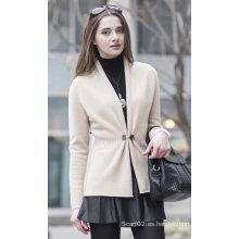 Suéter de cachemira de la rebeca de las mujeres (1500002076)
