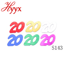 HYYX Best Sale Surprise Toy high quality number 20 shape confetti