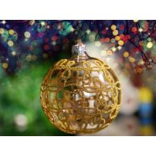 christmas pattern glass ball