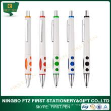 White Body Werbeartikel Kunststoff Kugelschreiber mit Logo