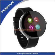 Pedômetro relógio inteligente com banda de silicone