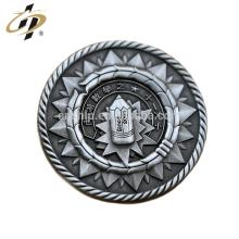 Pinos de lapela de escola de metal antigo prata 3D personalizado