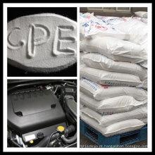 Polietileno clorado (CPE135A) para aditivos retardadores de chama no composto ABS