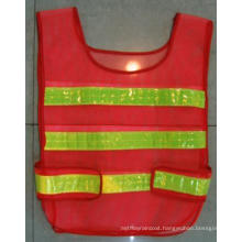 Polyester Traffic Vest with Reflective Strip
