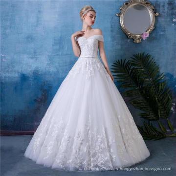 Vestido de novia de la longitud del piso vestido de novia HA553