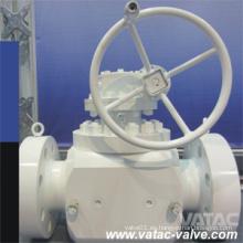 Válvula de bola de entrada superior de alta presión Gearbox