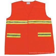 fashion High Visiblity Polyester Reflective Safety Warning Coat