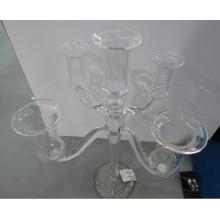 Porte-bougie en verre à cinq affiches pour décoration intérieure