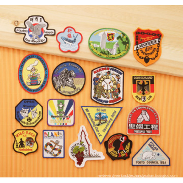 Embroidered Badges with Merrowed Border