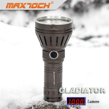 Maxtoch GLADIATOR 26650 Battery HA III Military Grade Long-rang Flashlight Cree LED Torch