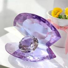 Crystal Glass Shell avec artisanat de diamant pour le cadeau