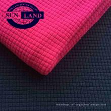 Sportbekleidung Roter Vorrat 100% Polyesterwaffel einseitig gebürstetes Polarfleece