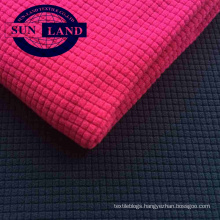 polyester waffle single side polar fleece fabric for home textile