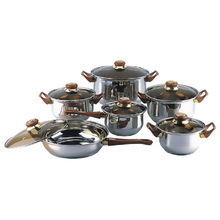 Amazon Vendor Stainless Steel Gourmet 12-Piece Covered Cookware Set