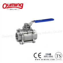 3PC Stainless Steel Ball Valve with Lock