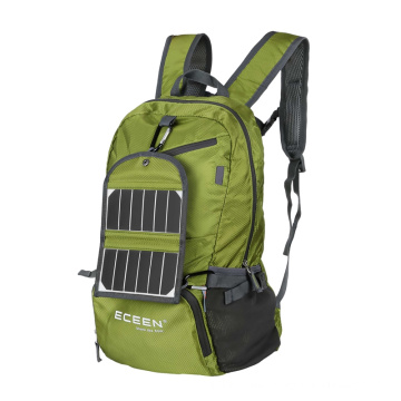 Fashionable flexible foldable solar panel backpack for camping and hiking