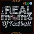 Football, maman, coeur, fer, cristaux, tee