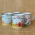 enamel drinkware shaker small joyshaker cup/enamel milk jar