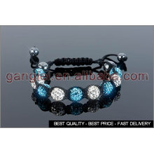 blue and white shamballa bracelets