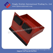 Magnetic Tool Tray with Red Paint