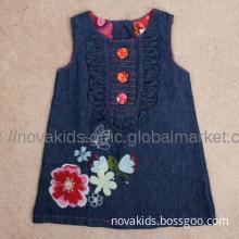 Fancy Children wear Baby Girls skirt short sleeve dress with embroider