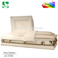 velvet lining 20 gauge metal casket