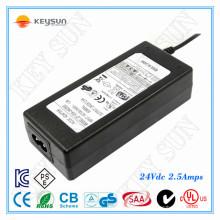 DVE Adapter 60w 24volt 2.5amp LED Netzteil für Elektrostuhl